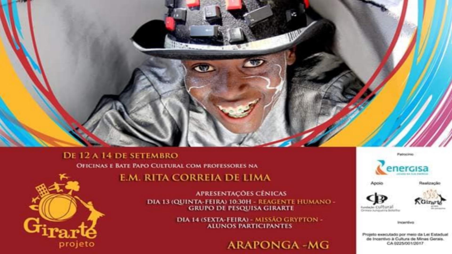 ESCOLA MUNICIPAL RECEBE PROJETO GIRARTE SEMEANDO A ARTE EM TODA PARTE !!!