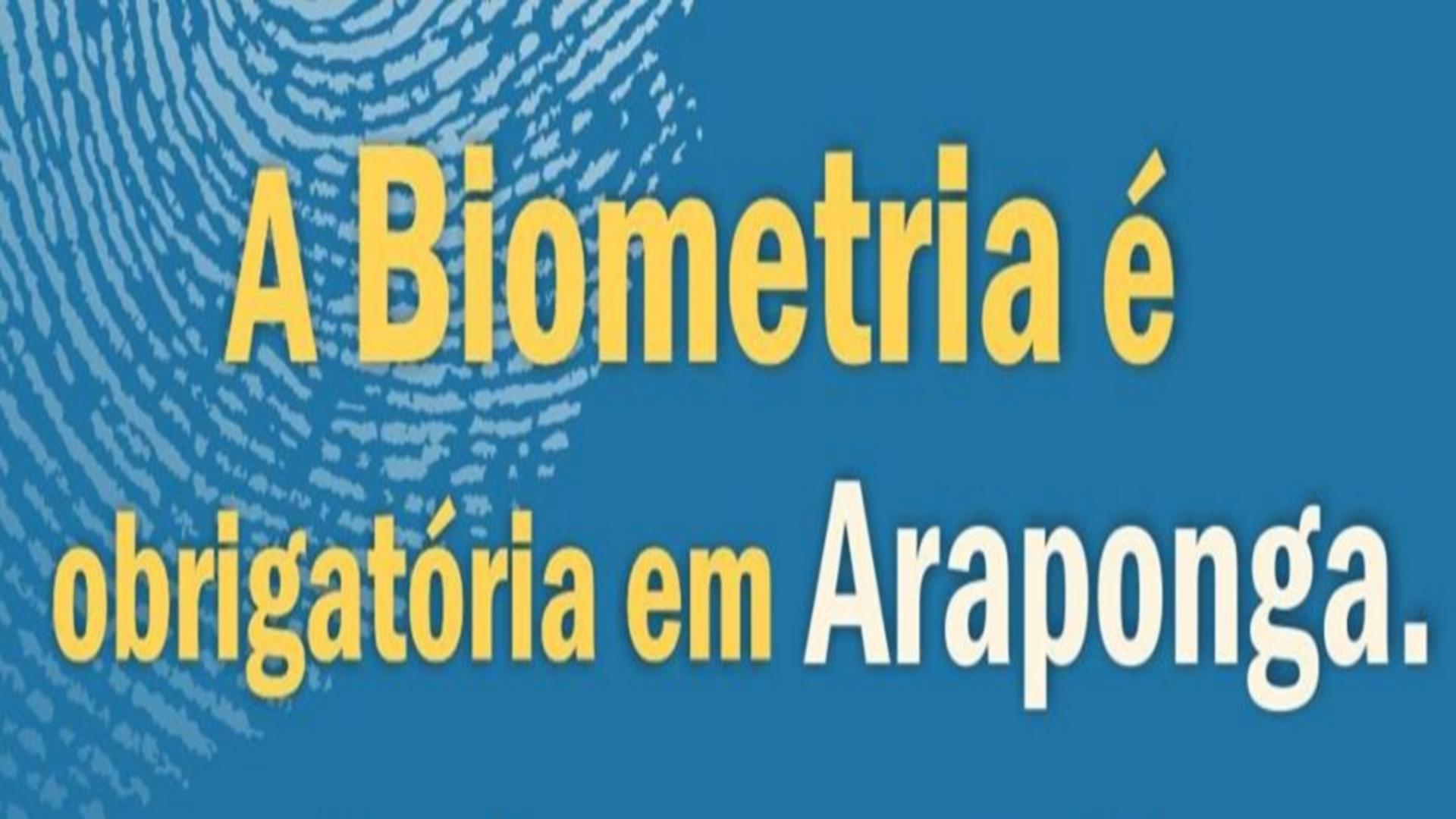 ELEITORADO DE ARAPONGA FIQUEM ATENTOS AO PRAZO PARA COLETA DE DADOS BIOMÉTRICOS !!!