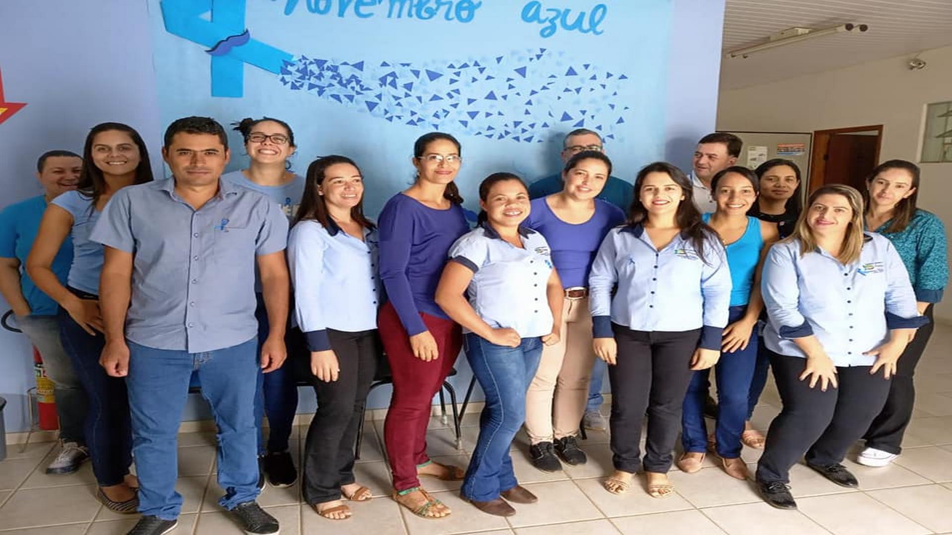 SERVIDORES PÚBLICOS DA PREFEITURA DE ARAPONGA ADEREM CAMPANHA DO NOVEMBRO AZUL !!!