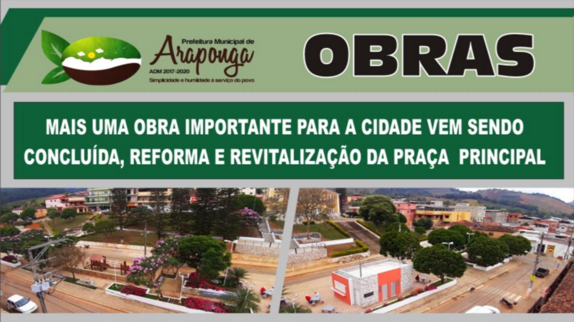 PREFEITURA DE ARAPONGA NÃO PARA DE REALIZAR OBRAS EM BENEFÍCIO AO MUNICÍPIO !!!