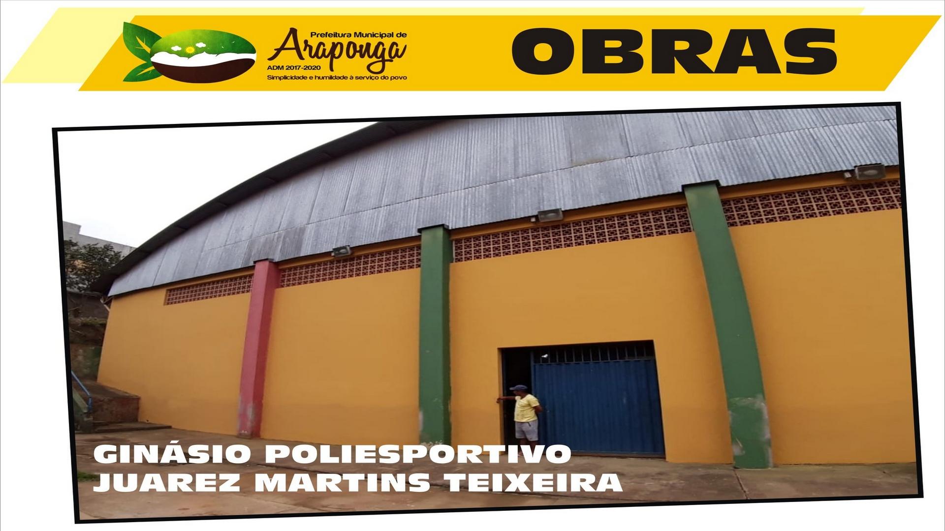 PREFEITURA DE ARAPONGA REALIZA DIVERSAS MELHORIAS E ADEQUAÇÕES NO ESTÁDIO POLIESPORTIVO LOCAL !!!