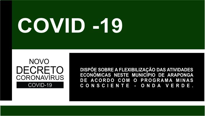COVID-19: DECRETO MUNICIPAL Nº 3116/2020 – DISPÕE SOBRE A FLEXIBILIZAÇÃO DAS ATIVIDADES ECONÔMICAS !!!